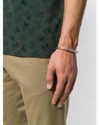 Bottega Veneta - Metallic Intrecciato Engraved Bangle for Men - Lyst