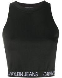Calvin Klein ロゴ タンクトップ Black
