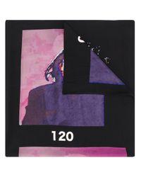 Yohji Yamamoto グラフィック スカーフ Black