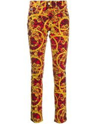 Versace Jeans コットンデニムジーンズ Red