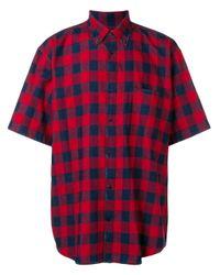 Exclusivité Farfetch - Chemise Oversize à Carreaux Balenciaga pour homme en coloris Red