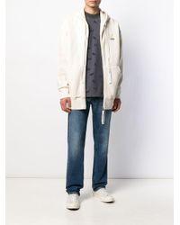 メンズ Maison Kitsuné Signature ジップパーカー White