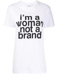 Erika Cavallini Semi Couture スローガン Tシャツ White