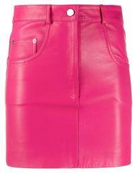 Manokhi レザー ミニスカート Pink