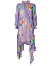 Preen By Thornton Bregazzi Purple Alisa Floral Dress