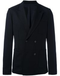 AMI Black Double Breasted Jacket for men