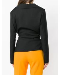 Jacquemus Black Draped Fitted Jacket