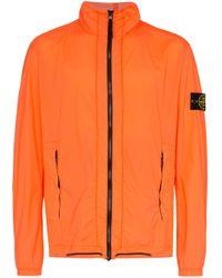 Куртка На Молнии Stone Island для него, цвет: Orange