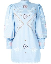 Alice McCALL Blue Heavenly Creatures Mini Dress