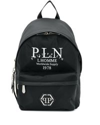 Рюкзак С Логотипом Philipp Plein для него, цвет: Black