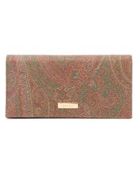 Etro - Multicolor Paisley Print Wallet - Lyst