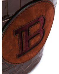 Sac seau à patch logo Balmain en coloris Multicolor