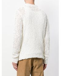 Our Legacy - White Textured Loose Knit Jumper for Men - Lyst