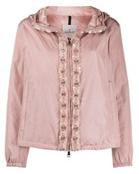 Moncler ビジュー パデッドジャケット Pink