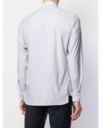 Z Zegna White Plain Button Shirt for men