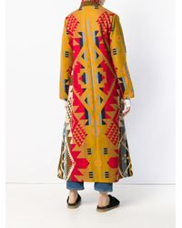 Jessie Western Long Duster Blanket Coat Red