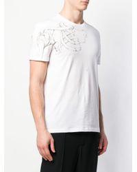 メンズ Alexander McQueen スケルトンプリント Tシャツ White
