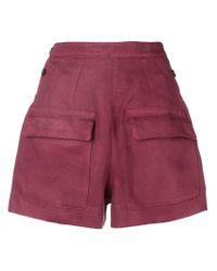 Short à poches à rabat Golden Goose Deluxe Brand en coloris Red