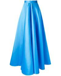 Maison Rabih Kayrouz Blue Pleated Skirt