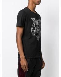 T-shirt à imprimé chaîne Just Cavalli pour homme en coloris Black