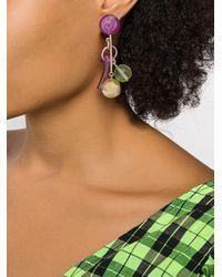 Boucles d'oreilles à breloques multiples Colville en coloris Purple