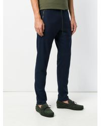 Tomas Maier Blue Felted Wool Sweatpant for men