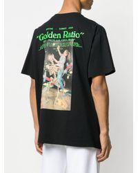 T-shirt con stampa di Off-White c/o Virgil Abloh in Black da Uomo