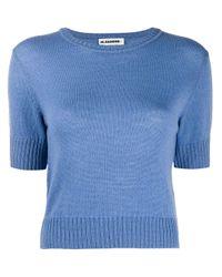 Pull à manches courtes Jil Sander en coloris Blue