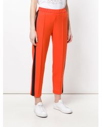 Barena Red Contrasting Stripe Trousers