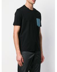 メンズ Prada コントラスト Tシャツ Black