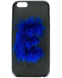 Fendi Black 'abcover E' Iphone 6 Hard Case