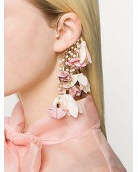 Pendiente ear-cuff con diseño floral Sentiero Rosantica de color Metallic