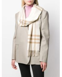 Burberry カシミア チェック スカーフ Natural