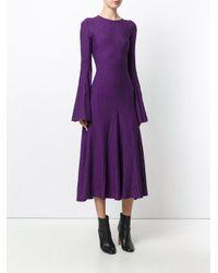 Ellery | Purple Conrad Ribbed Stretch-knit Midi Dress | Lyst