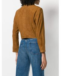 Ganni Brown Cropped Fitted Jacket