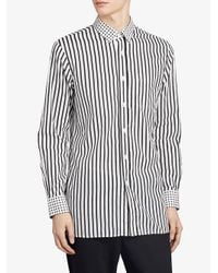 Burberry - Multicolor Dot And Stripe Print Shirt for Men - Lyst