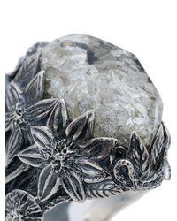 Lyly Erlandsson 'Winter Shell' Silberring in Metallic für Herren