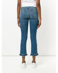 Jean skinny crop Rag & Bone en coloris Blue