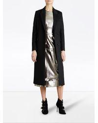 Burberry - Black Tailored Coat - Lyst