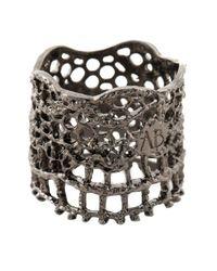 Aurelie Bidermann - Black 'vintage Lace' Ring - Lyst