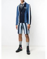 メンズ Thom Browne レップストライプ コンボニット スポーツコート Blue