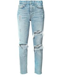 GRLFRND Blue - Distressed Skinny Jeans - Women - Cotton - 23
