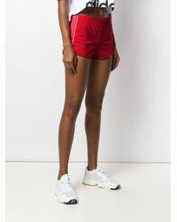Adidas ストライプ ショートパンツ Red