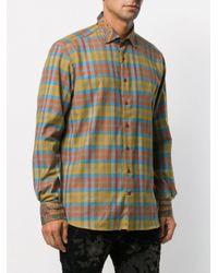 Camisa con motivo de cuadros Etro de hombre de color Blue