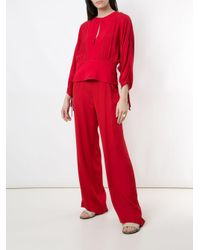 Egrey Red 'Amber' Bluse