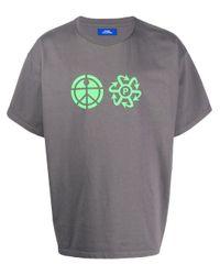 Camiseta con logo estampado PACCBET de hombre de color Gray