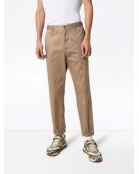 Pantalon fuselé à bande Web Gucci pour homme en coloris Brown
