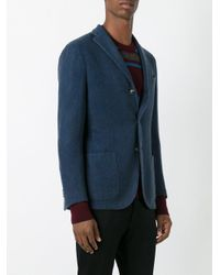 Boglioli - Blue Notched Lapel Blazer for Men - Lyst