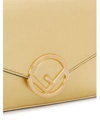Fendi - Metallic F Is Wallet On Chain Bag - Lyst