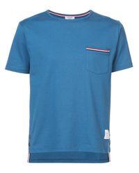 メンズ Thom Browne Rwb ポケットトリム ショートスリーブt Blue
